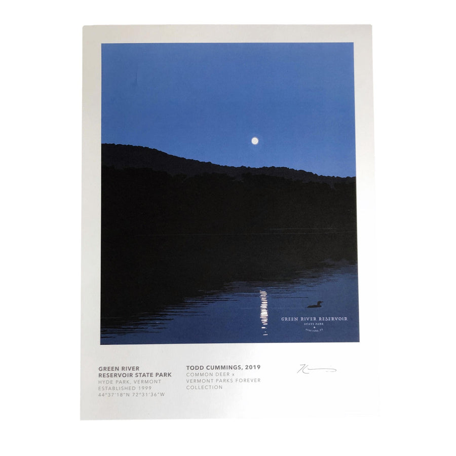 Vermont Parks Collection Print:Green River Reservoir State Park