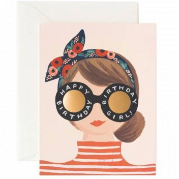 Birthday Girl Glasses Card - RP6