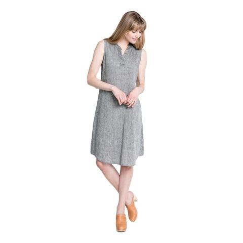 Linen Mandarin Dress