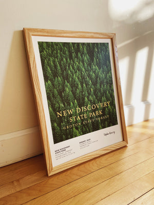 Vermont Parks Collection Print: New Discovery State Park Groton State Forest