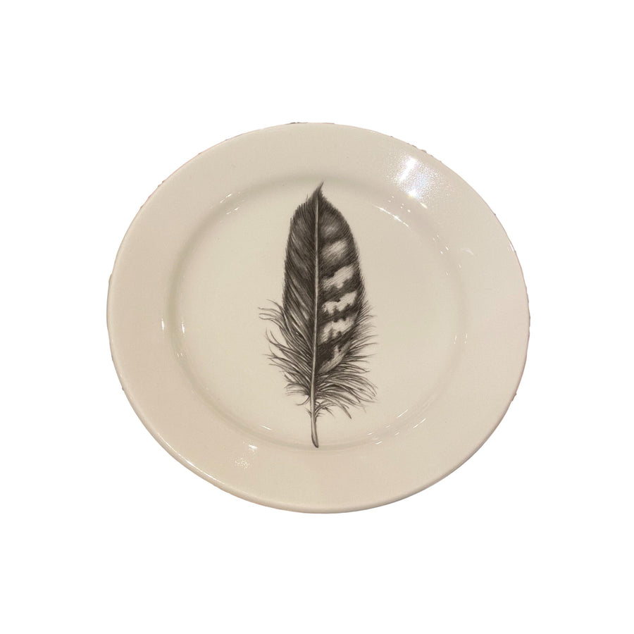 Laura Zindel Salad Plate - Quail Feather