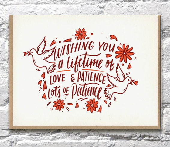 Love and Patience Wedding Card - BP4