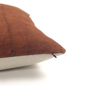 Brown Mudcloth Pillow with Feather Insert