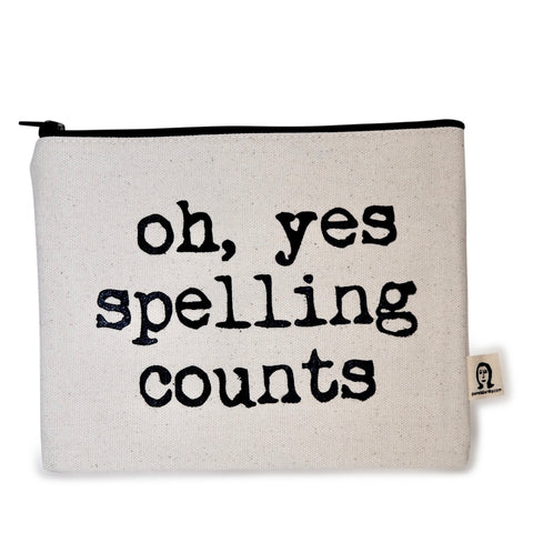 Spelling Does Count Canvas Pouch