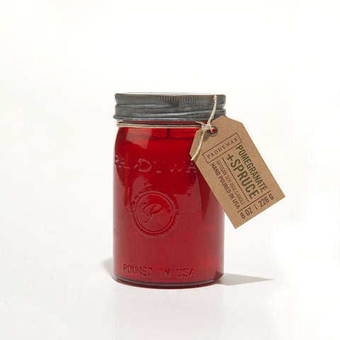 Pomegranate and Spuce 10.5 oz Relish Jar Candle