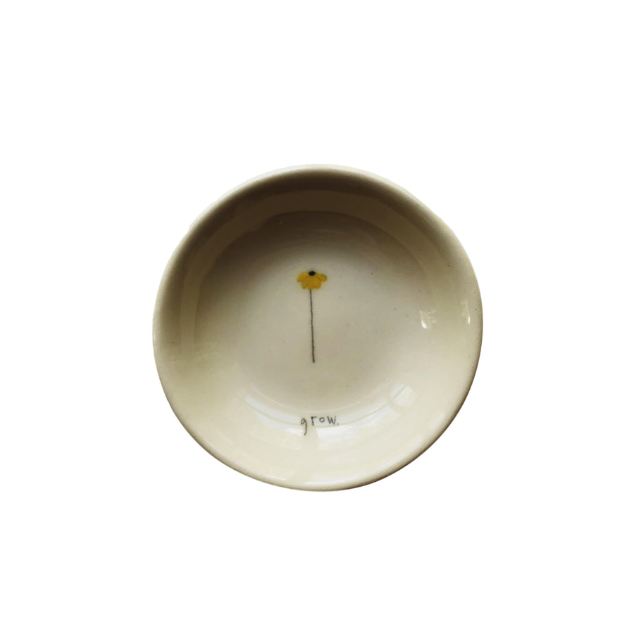 """Grow"" Flower Ceramic Bowl"