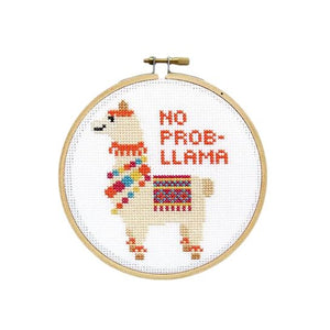 Easy Cross Stitch Kit - No Prob-LLama