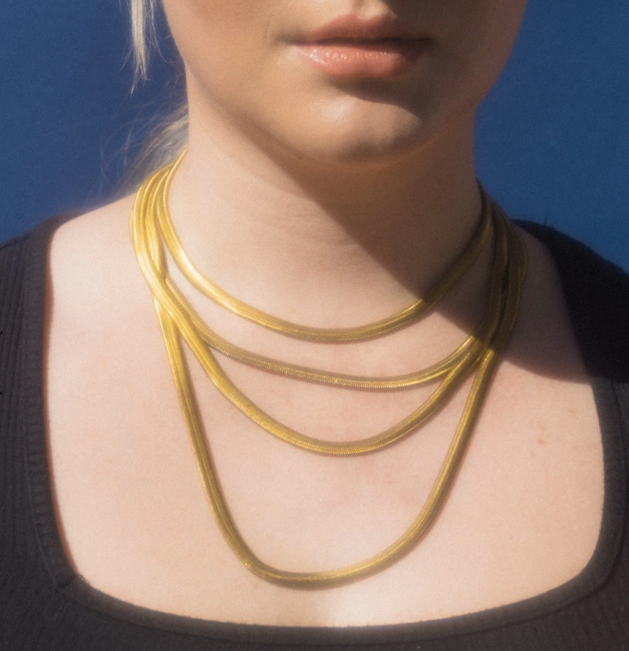 Brass Grace Necklace