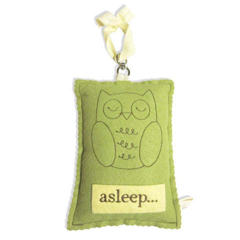 Sleeping Owl Hanging Door Sign