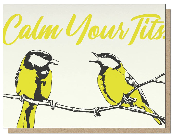 Calm Tits Card - GS2