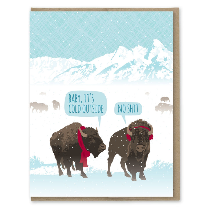 Bison Baby It's Cold Outside Card - MP7
