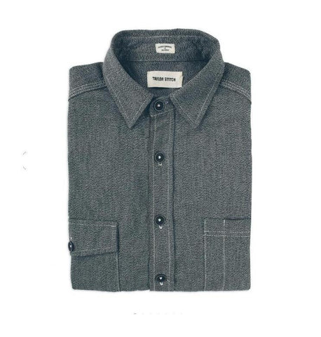 The Utility Shirt in Salt and Pepper Chambray