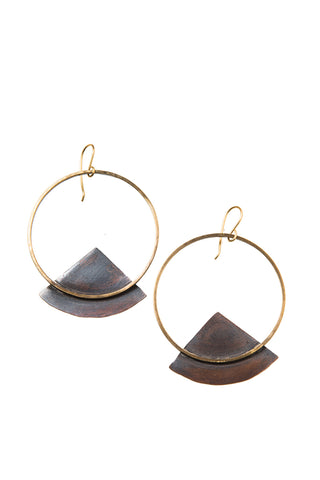 Mountain Rise Brass Earrings