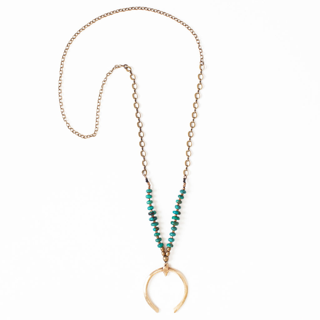 Turquoise Beaded Alamo Necklace