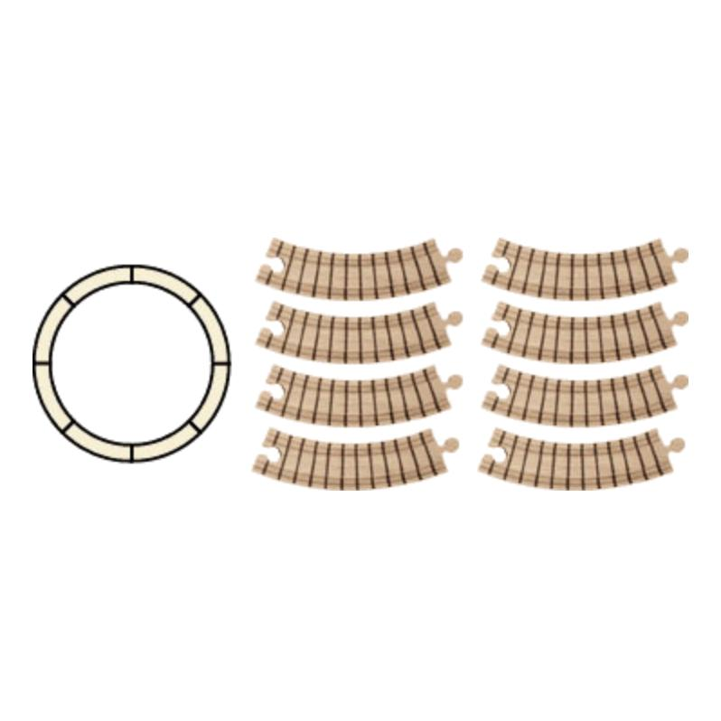 Wooden Circle Train Track Set