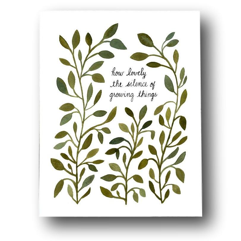 How Lovely the Silence of Growing Things Print
