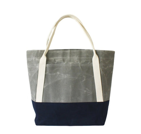 Waxed Canvas Two-Tone Utility Tote
