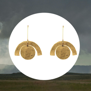 Brass Dome Earrings