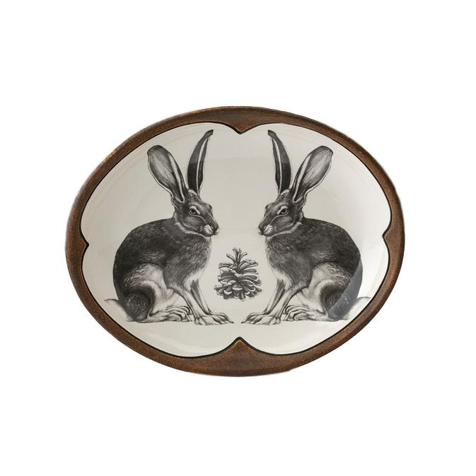 Laura Zindel Small Serving Dish - Hare