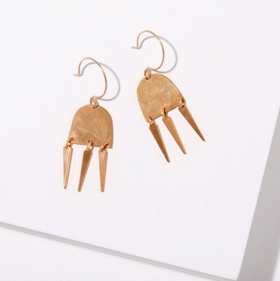 Brass Erika Earrings