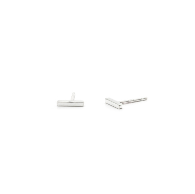 Tiny Square Sterling Silver Studs