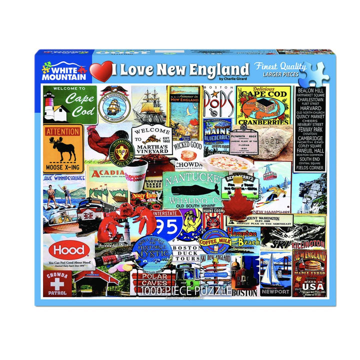 I Love New England Puzzle - 1000 Piece