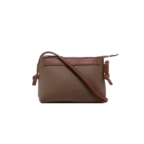 Sora FeltCrossbody Bag - Cumin/ Sienna Leather