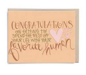Favourite Human Congrats Card - LP4