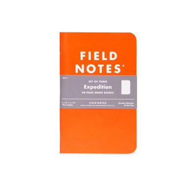 Field Notes Waterproof Expedition 3-Pack