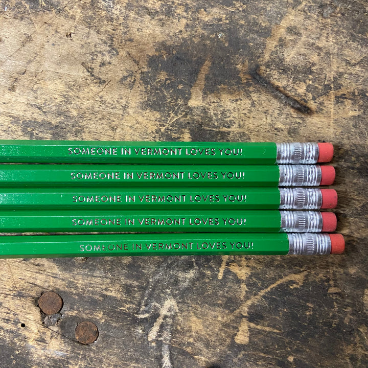 Pencil Pack of 5 - Someone in Vermont Loves You