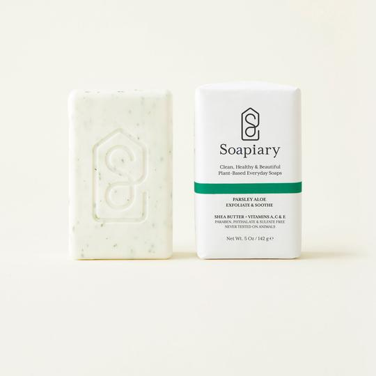 Soapiary Bar Soap Parsley Aloe Exfoliate