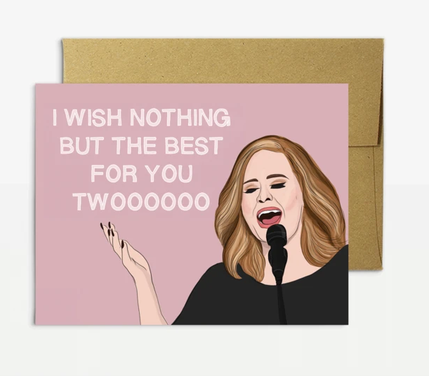 Adele Wedding Best For You Card - PM4