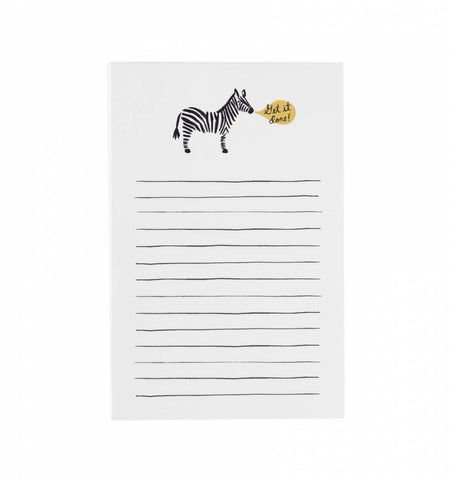 Rifle Paper Get it Done Zebra Notepad