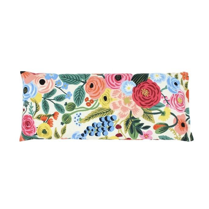 Cream and Pink Floral Eye Pillow