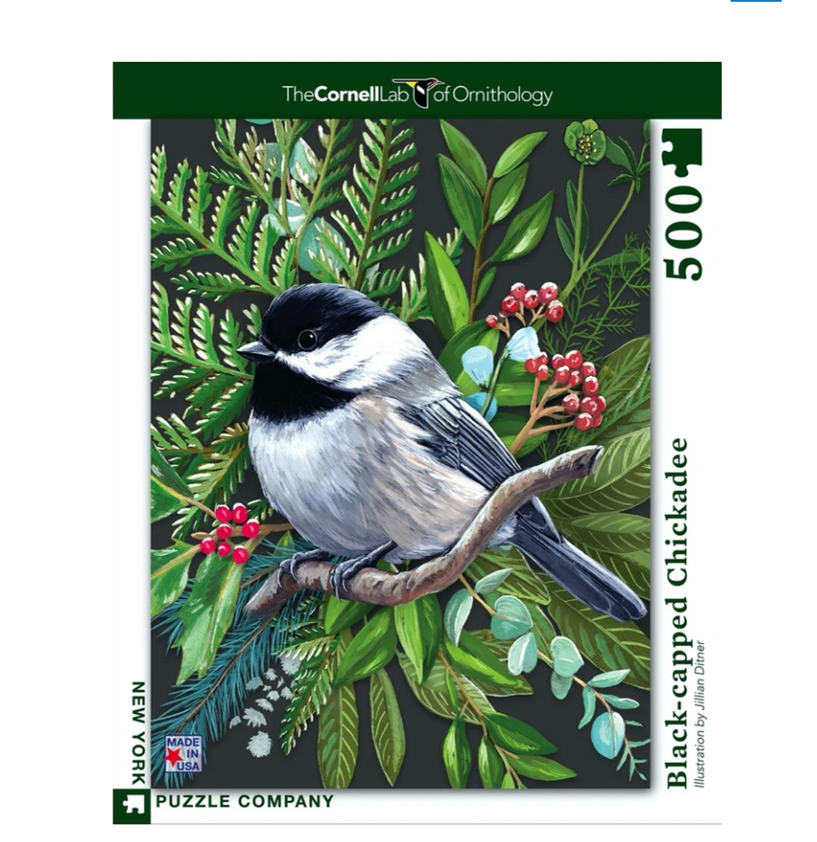 Black-capped Chickadee Puzzle - 500 Piece