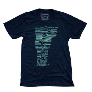 Mountains of Vermont Shirt in Indigo