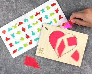 Tangram Tiling Puzzle - Heart