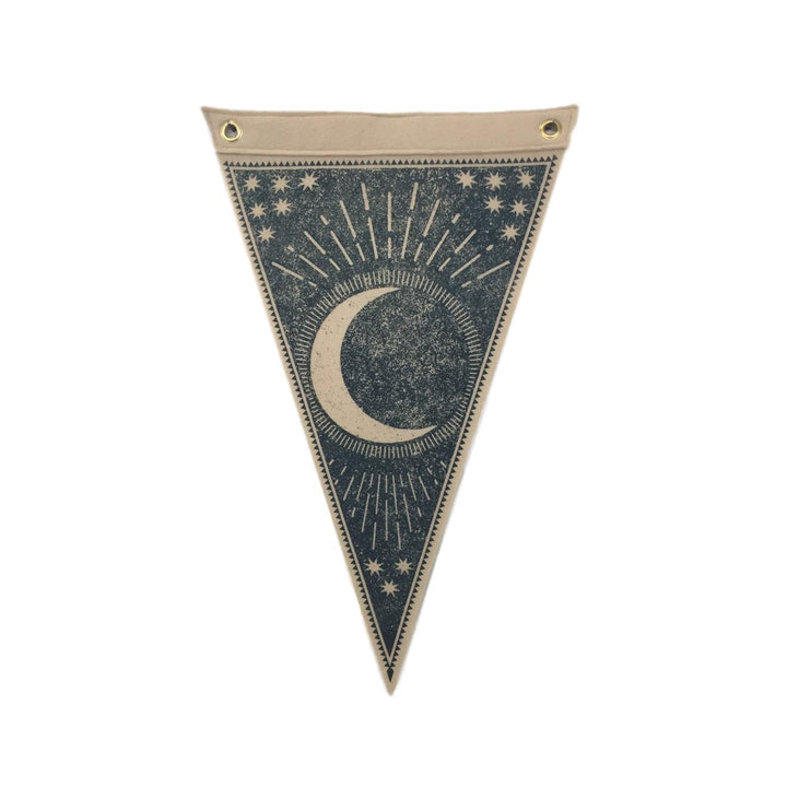 Waning Moon Felt Flag