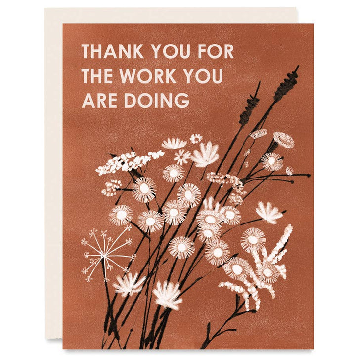 Thank You For the Work You Are Doing Card - HP1