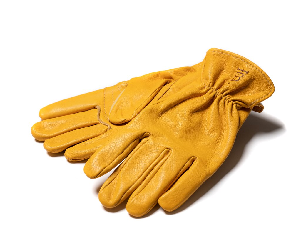 Unlined Goatskin Shooting Gloves - Gold