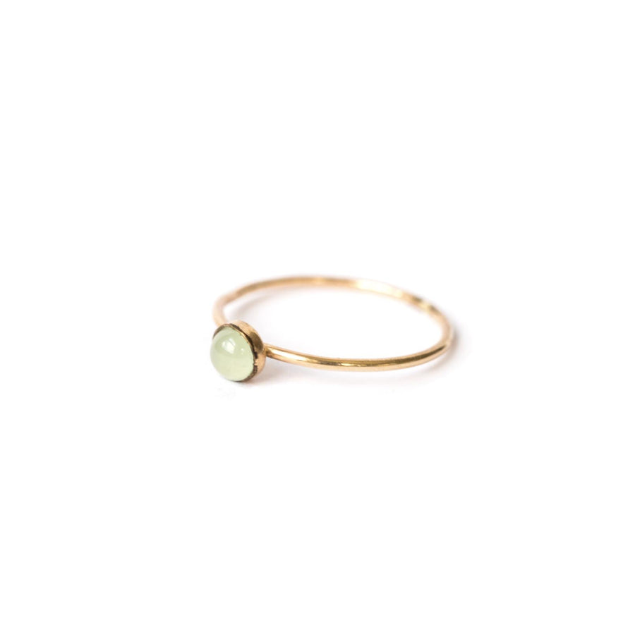Crysoprase Single Stone Ring Gold