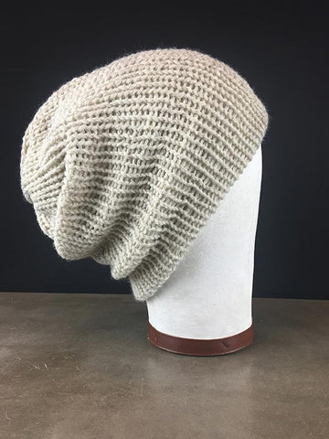 Knit Slouchy Lambswool Beanie