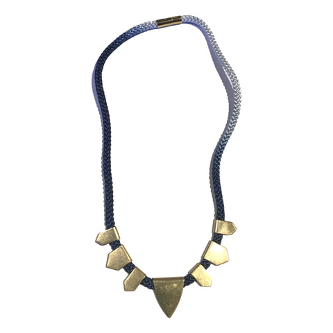 Summit Brass Necklace Ombre Cord