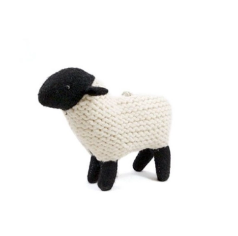 Upcycled Sweater Ornament - Black Sheep