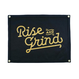 Rise and Grind Camp Flag