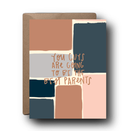 Best Parents Mauve and Navy Card - BL4