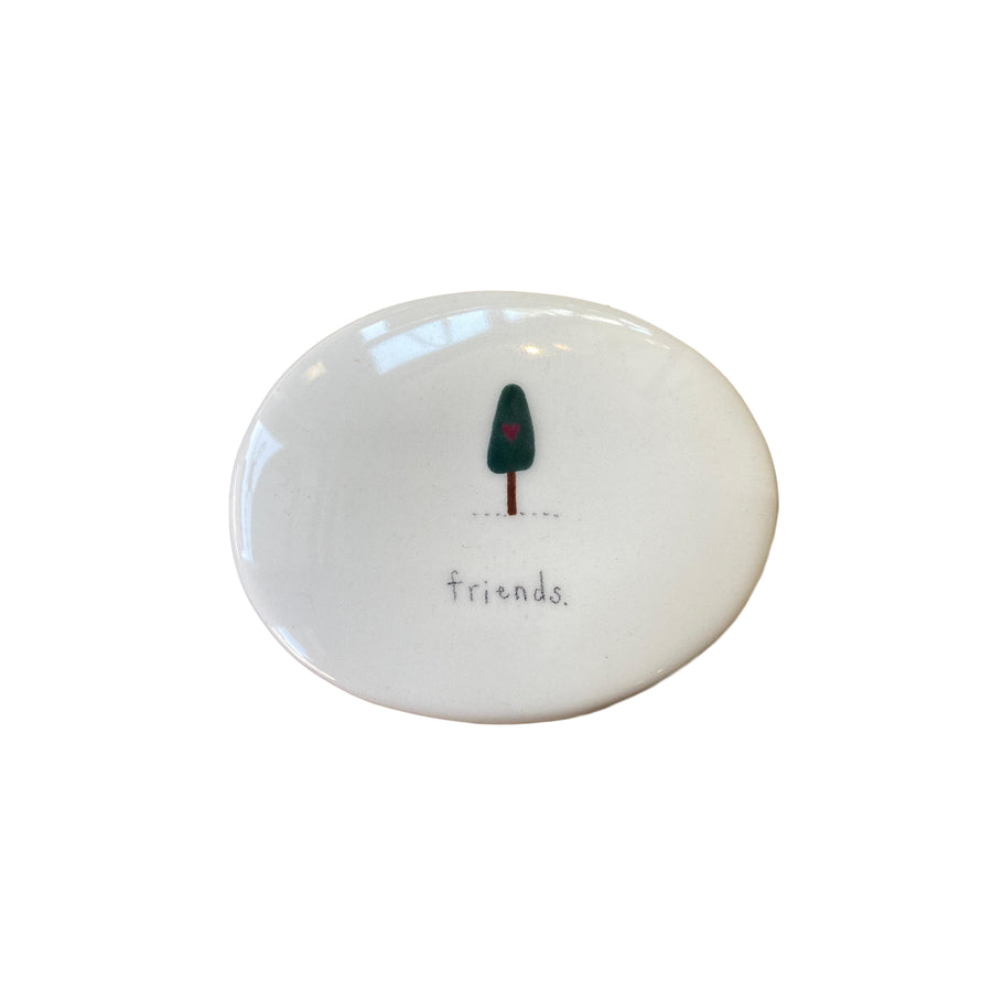 Friends Ceramic Oval Box