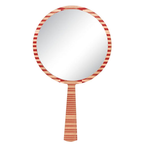 Hand Mirror - Red Dart Print