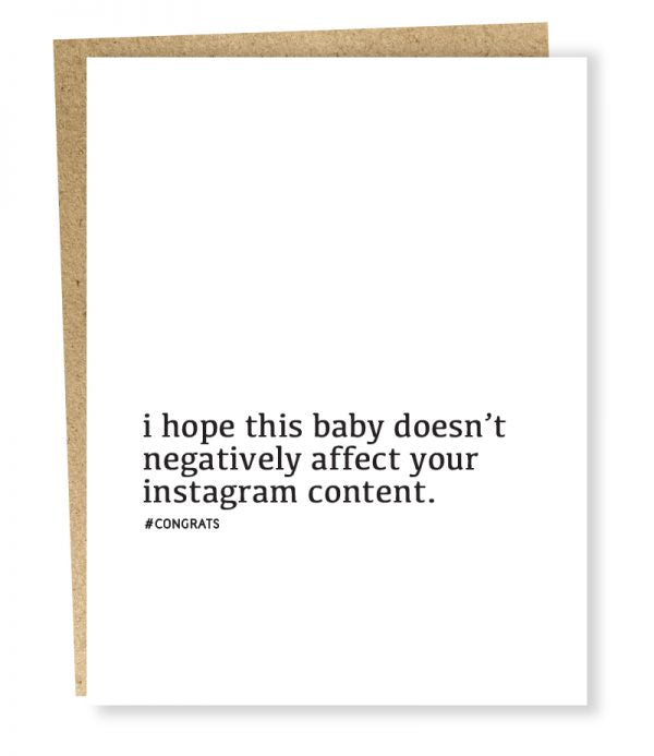 Instagram Content Baby Card - Sp4