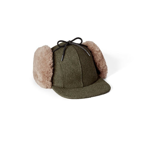 Filson Double Mackinaw Wool Cap - Forest Green/Acorn